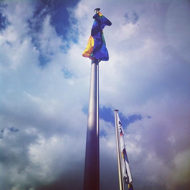 Raise the flag. #colognepride #cologne #csd