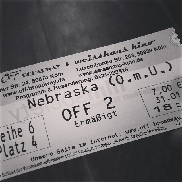 #nebraska #movie #cinema #cologne