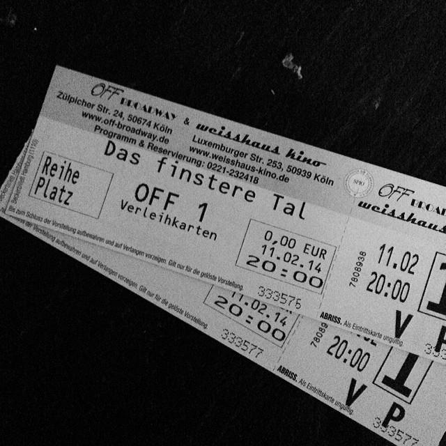 "#dasfinsteretal #cinema #cologne mein erster ""Östern"" ;)"