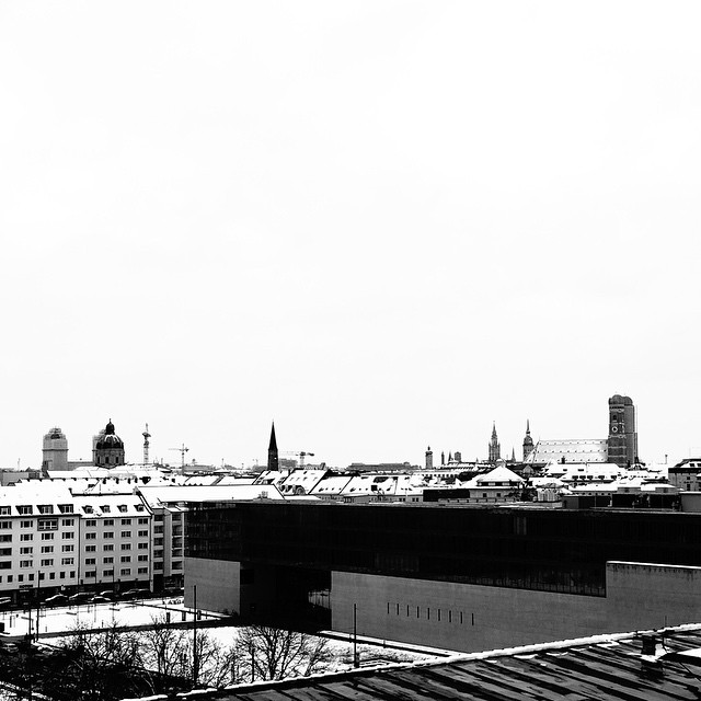 The Roof of Munich #munich #münchen #blackandwhite #winter #snow
