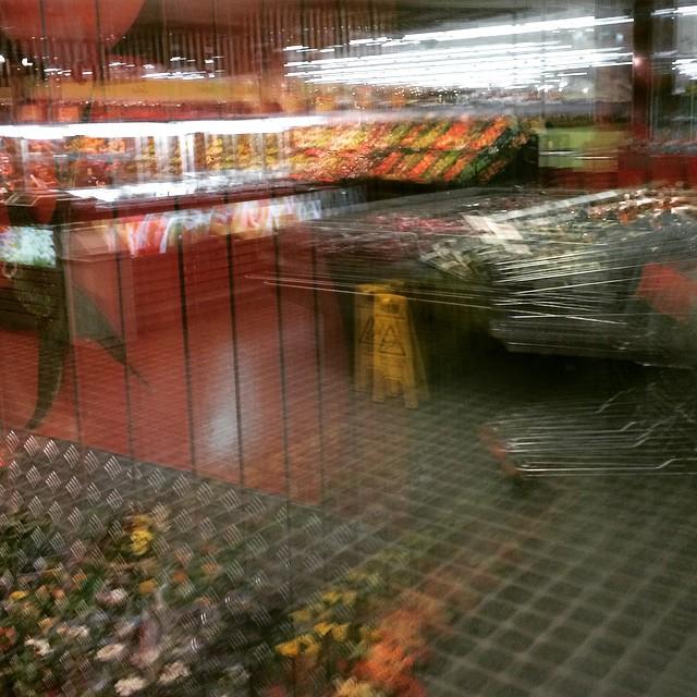 Glass door shopping
